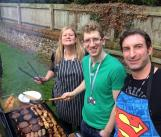 IPRS Charity Bake off 2015 Staff BBQ chefs